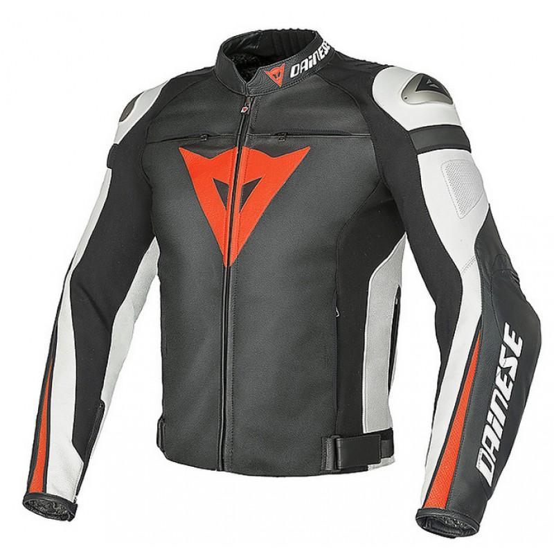 JAQUETA DAINESE SUPER SPEED C2  NERO/BIANCO/ROSSO-FLUO  - Motosports