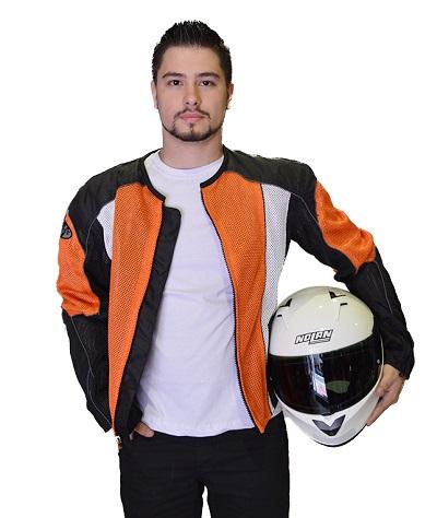 JAQUETA JOE ROCKET PHOENIX 5.0 - LARANJA FORRO REMOVÍVEL IMPERMEÁVEL  - Motosports