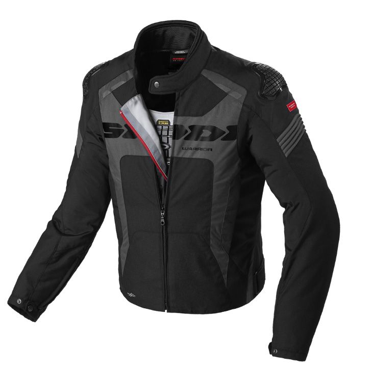 JAQUETA SPIDI WARRIOR H2OUT BLACK  - Motosports
