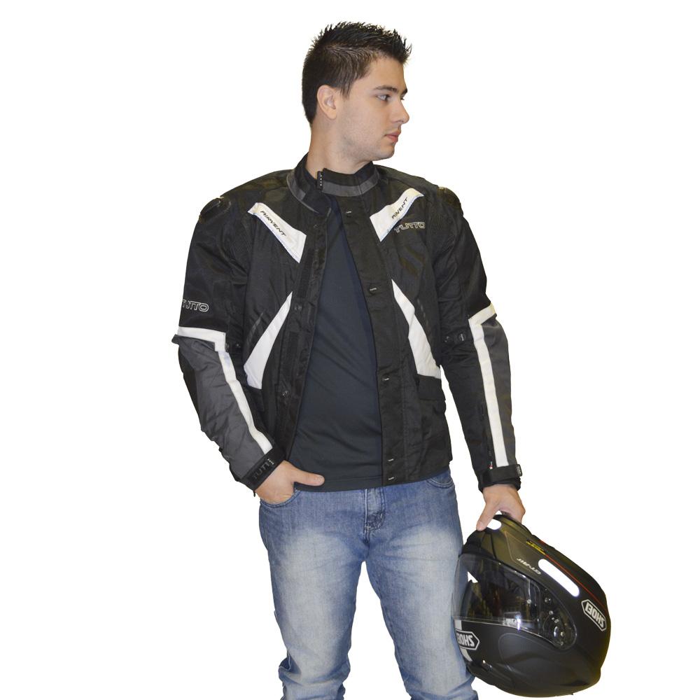 Jaqueta Tutto Napoli Preta com Cinza  - Motosports