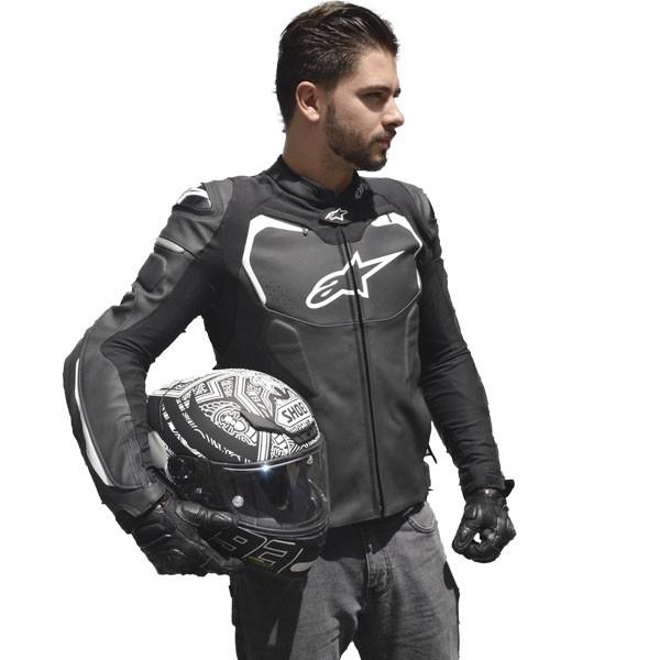 KIT- JAQUETA ALPINESTARS GP PRO + Capacete Shoei NXR Marquez  - Motosports