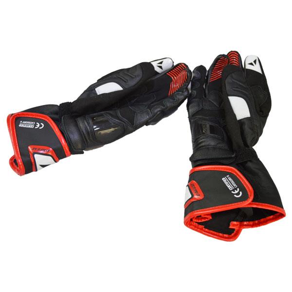Luva Dainese  Carbon D1 LONG - Black / White/ Lava-Red  - Motosports