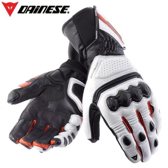 Luva Dainese Pro Carbon branca com vermelha  - Motosports