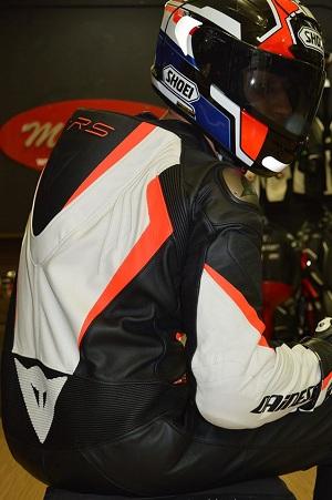 Macacão Dainese Crono Branco e Laranja (Pronta entrega)  - Motosports