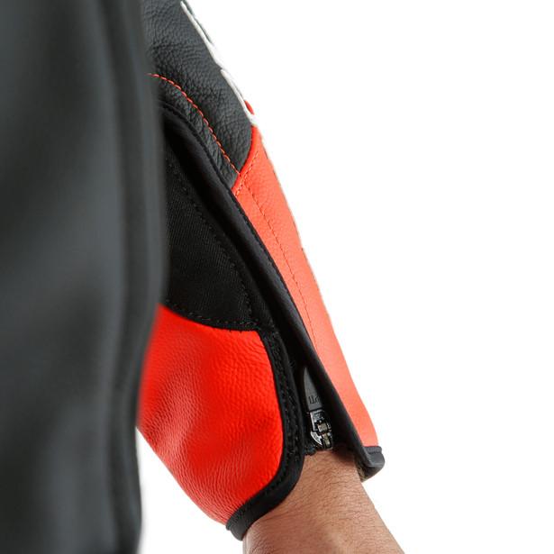 MACACÃO DAINESE MISTEL 2PC PERF - BLACK MATTE / FLUO RED  - Motosports