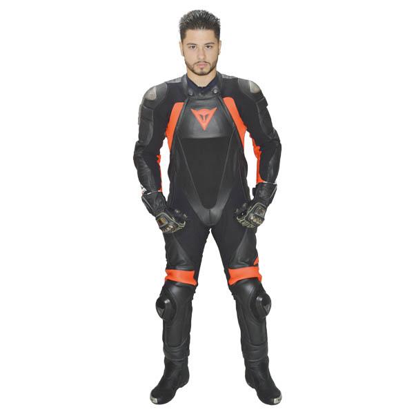 Macacão Dainese Red Line Prof. Estiva  Black / Black / Red  - Motosports