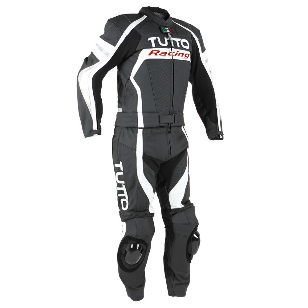 Macacão Tutto Moto Racing 2 pçs Branco c/ Prata  - Motosports