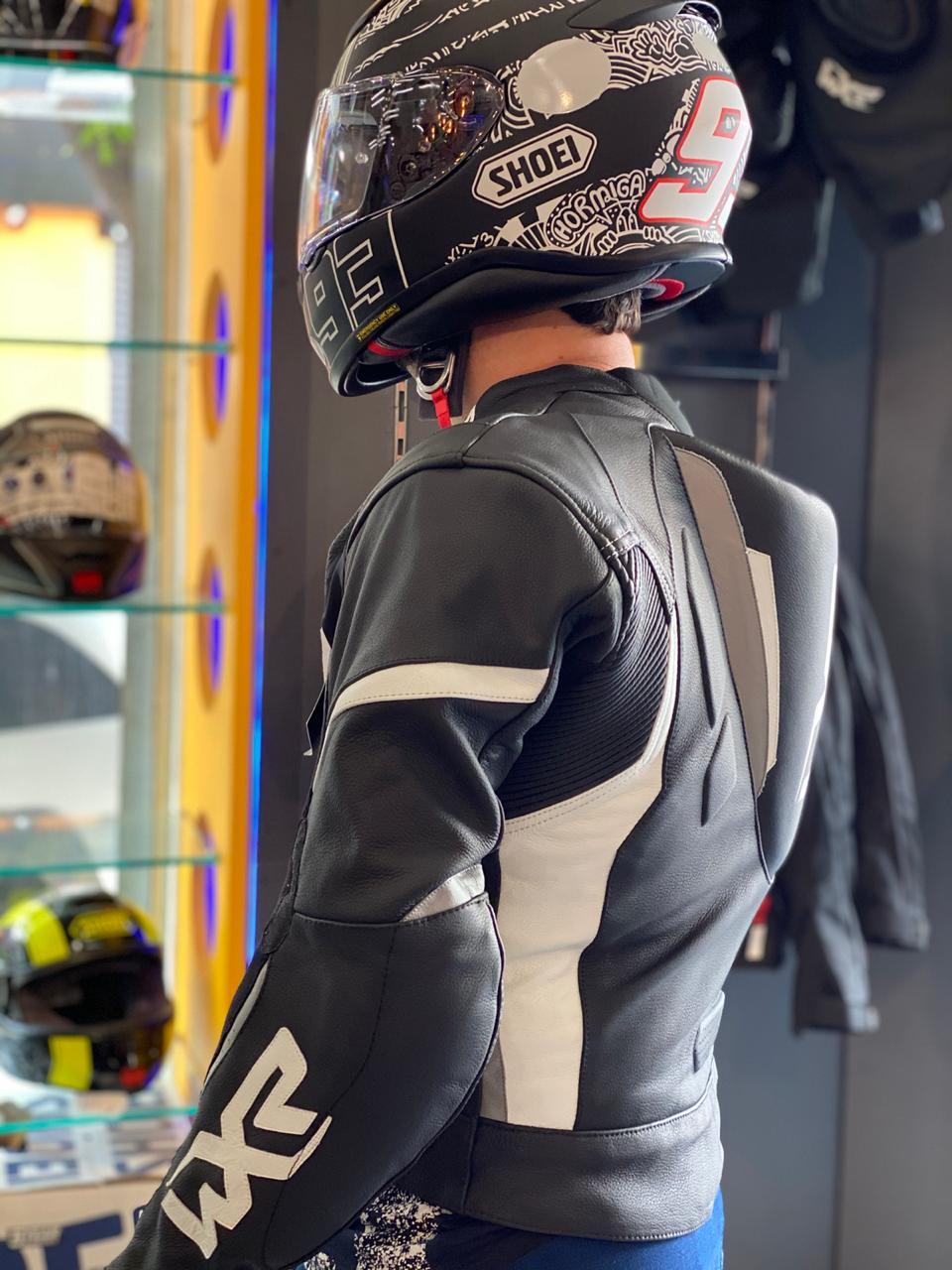 MACACÃO WXR 2 PEÇA PRETO/ BRANCO LANÇAMENTO !  - Motosports