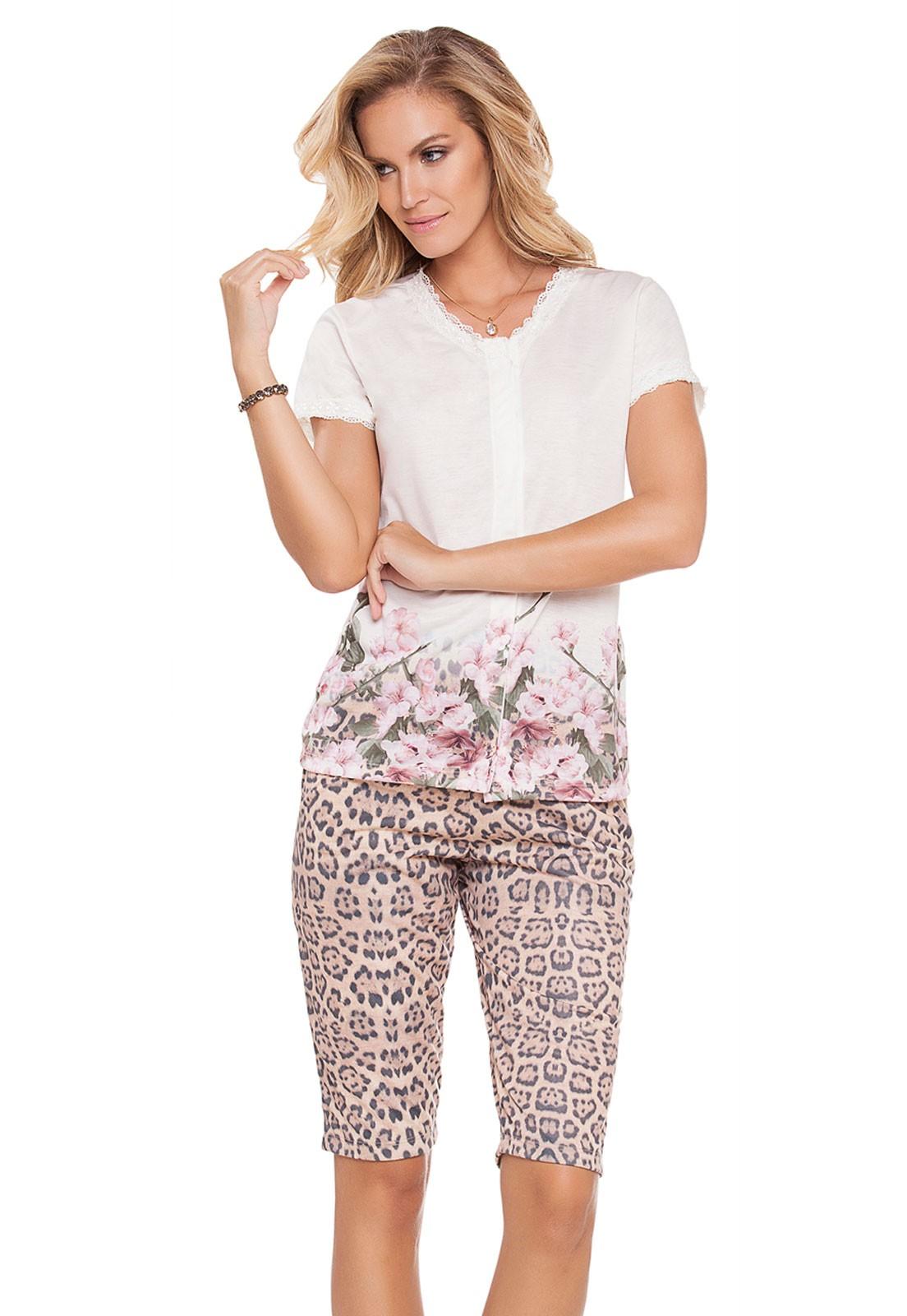 Pijama Aberto Capri Wildflower