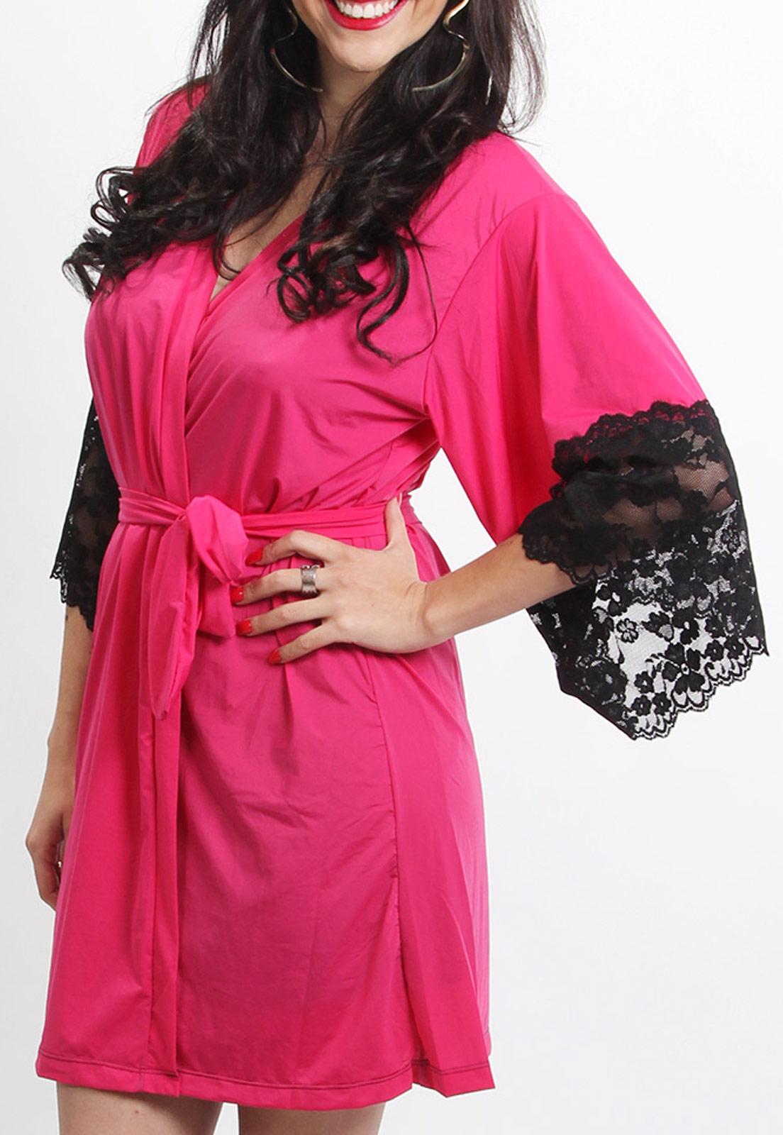 Robe Pink com Renda