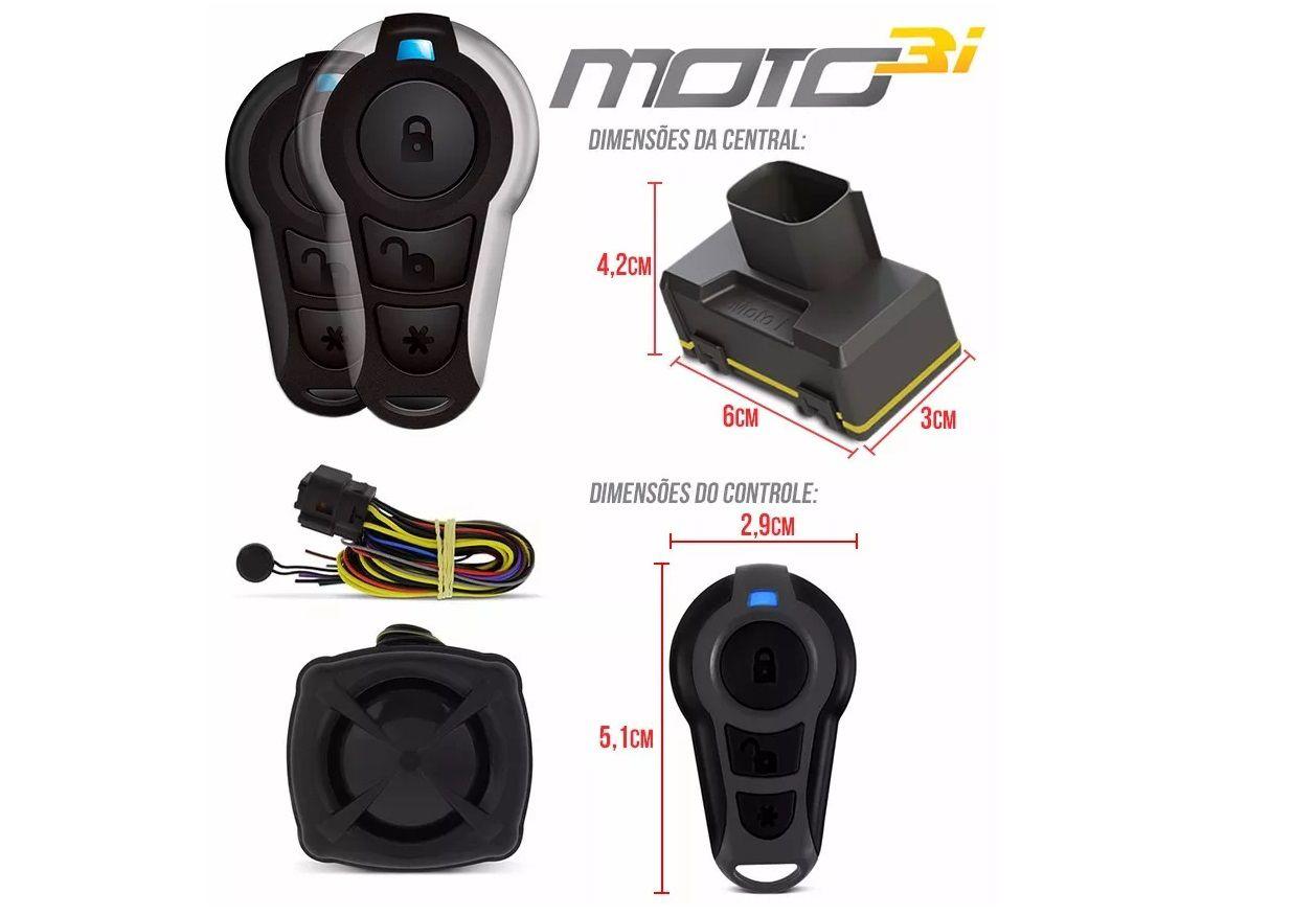Alarme De Moto Defender Tech 3i Modelo Universal Partida No Controle