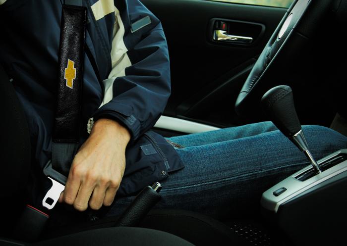 Capa Protetora Para Cinto De Segurança Bordado Chevrolet
