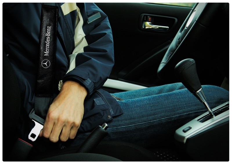 Capa Protetora Para Cinto De Segurança Bordado Mercedes Benz