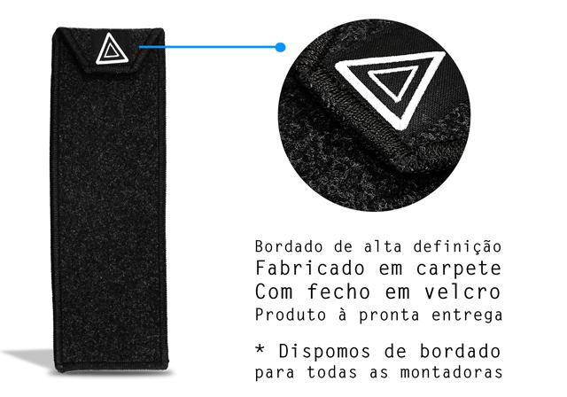 Capa Triângulo de Segurança Em Carpete Com Bordado