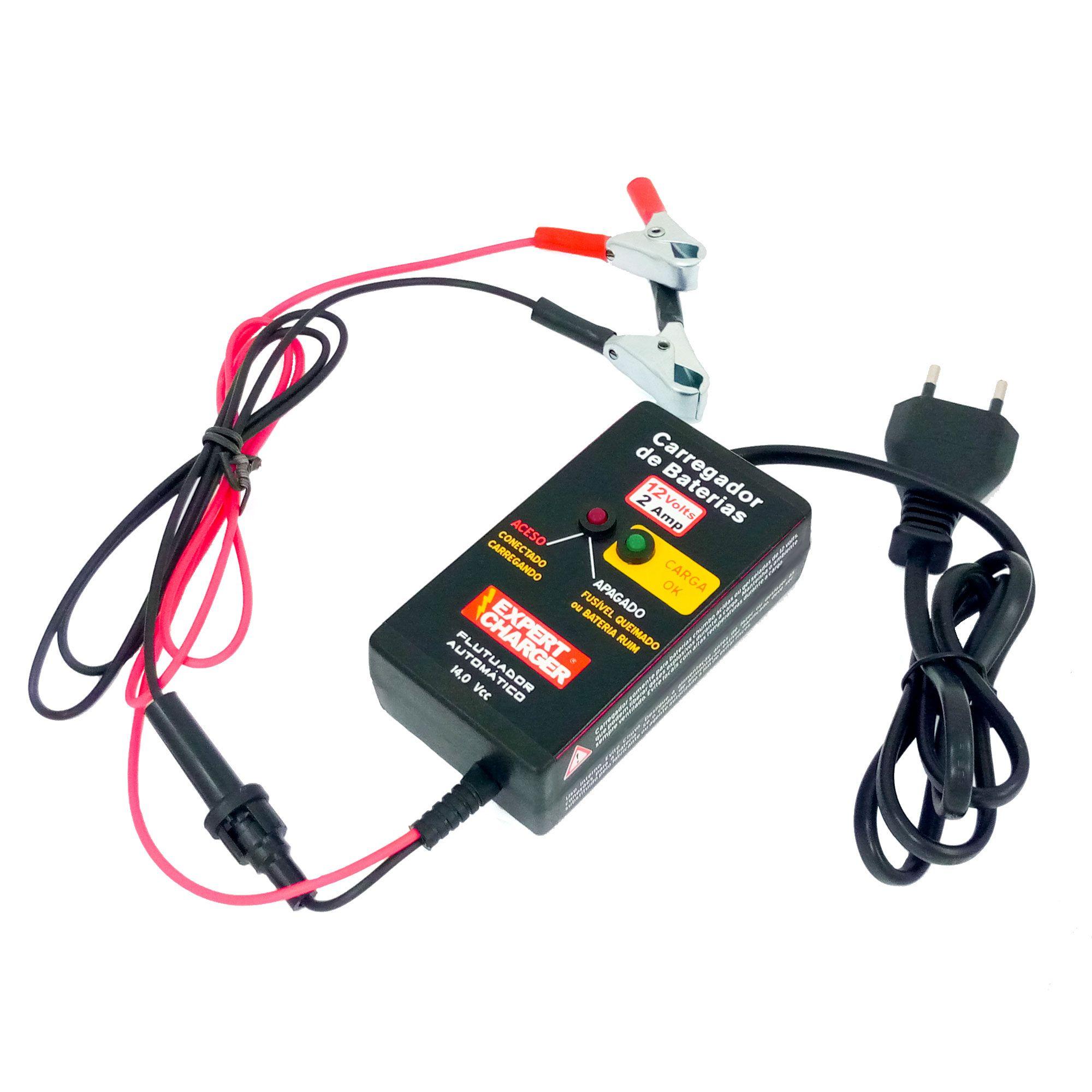 Carregador Portatil Bateria Inteligente 12 Volts Para Motos  - Fabrica De Carregador