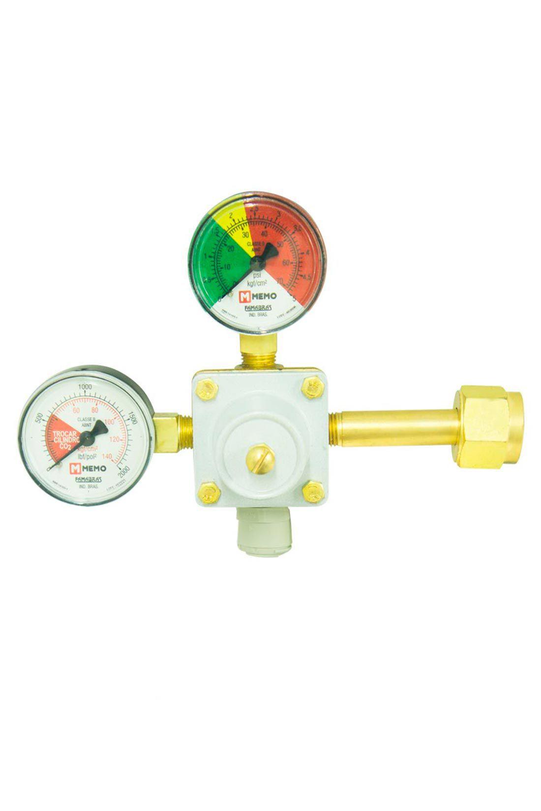 Válvula Redutora de Pressão com Manômetro e Engate Rápido de 1 Saída
