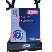 CADEADO TRAVA U-LOCK ABUS FACILO 32 + LOOP CABLE 140CM