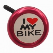 CAMPAINHA I LOVE MY BIKE VERMELHA - ISP
