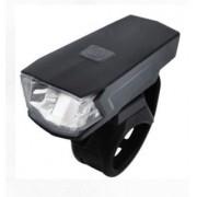 FAROL DIANTEIRO ABSOLUTE JY-7059 PRETO 1 LED 2 MODOS ATE 7 HORAS USB - ISP