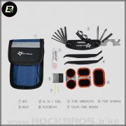 KIT DE FERRAMENTA ROCKBROS CANIVETE 16 FUNCOES COM KIT REMENDO RB-GJ9809
