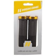 MANOPLA MTB 130MM COM TRAVA DOURADO Ref: HOMAN0007 Marca: HIGH ONE