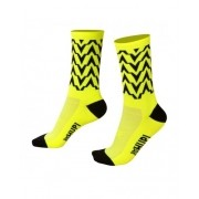MEIA HUPI CICLISTA COLORFUL COLLECTION AMARELO NEON WAVE 495-23