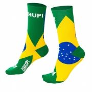 MEIA HUPI CICLISTA COLORFUL COLLECTION BRASIL 495-30