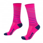 MEIA HUPI CICLISTA COLORFUL COLLECTION ROSA LINE 495-36