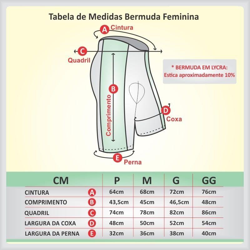 BERMUDA REFACTOR FEMININA MEGA PRO PRETA