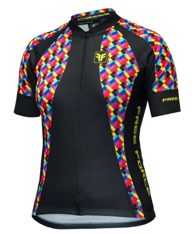 CAMISA FREEFORCE FEMININA COLORFUL PRETA