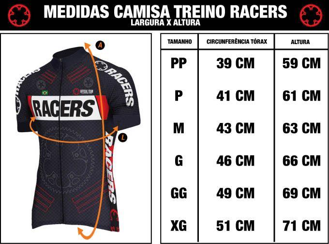 CAMISA RACERS CROSS PRETA e AZUL