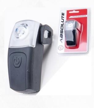 FAROL TRASEIRO ABSOLUTE SILICONE PRETO 1 LED RECARREGA VIA USB - ISP