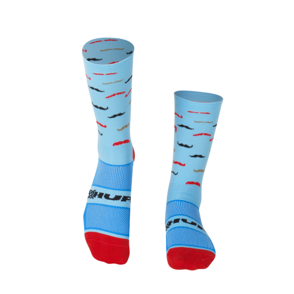 MEIA HUPI CICLISTA COLORFUL COLLECTION AZUL BIGODE 495-60