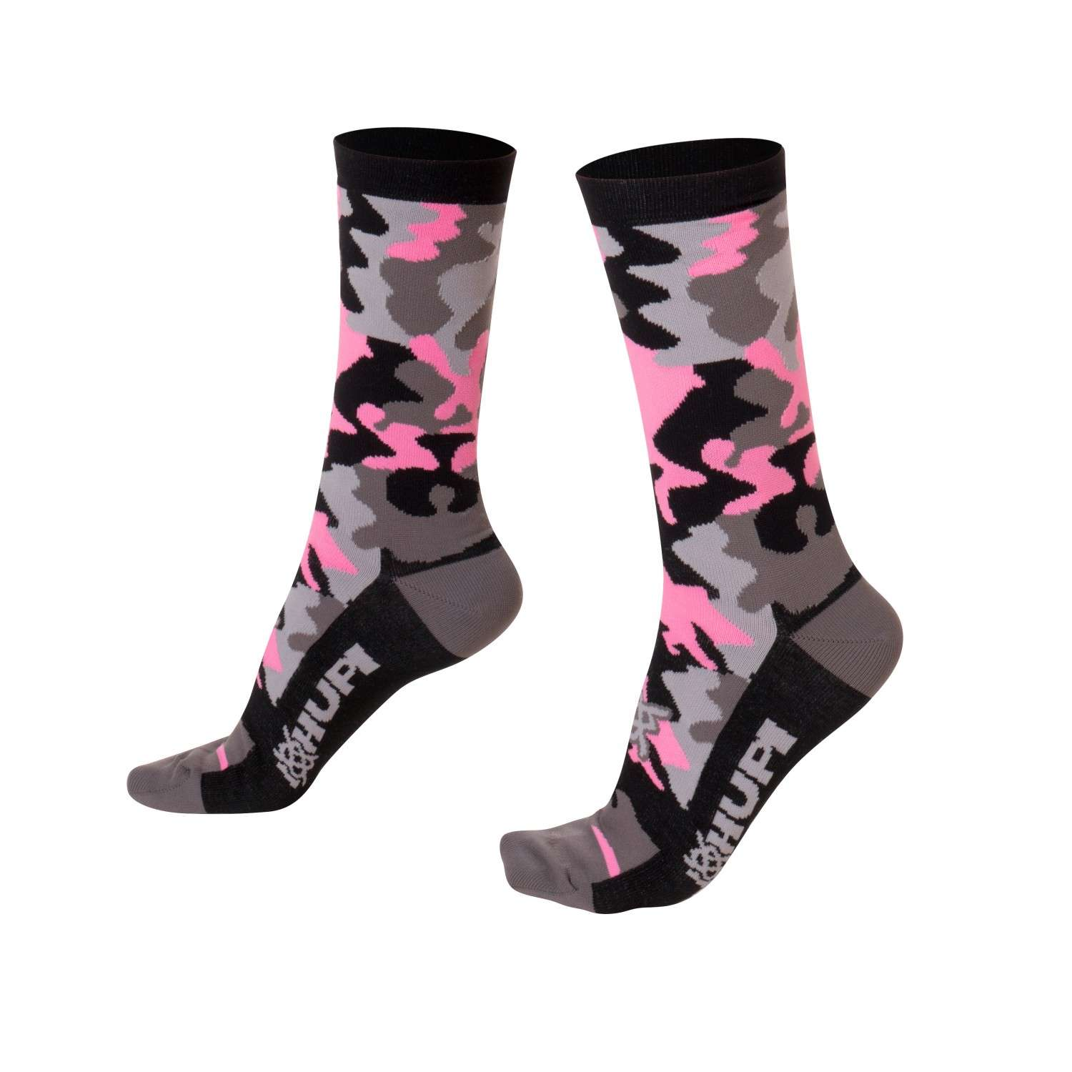 MEIA HUPI CICLISTA COLORFUL COLLECTION CAMO ROSA 495-51