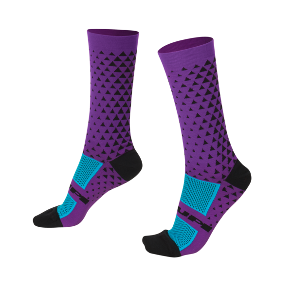 MEIA HUPI CICLISTA COLORFUL COLLECTION ROXO TRIANGULO 495-59