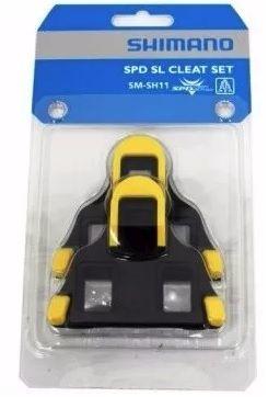 TACO PEDAL SPEED SHIMANO SM-SH11 (AMARELO FLUTUANTE 6º) PN:Y42U98010   - BLC