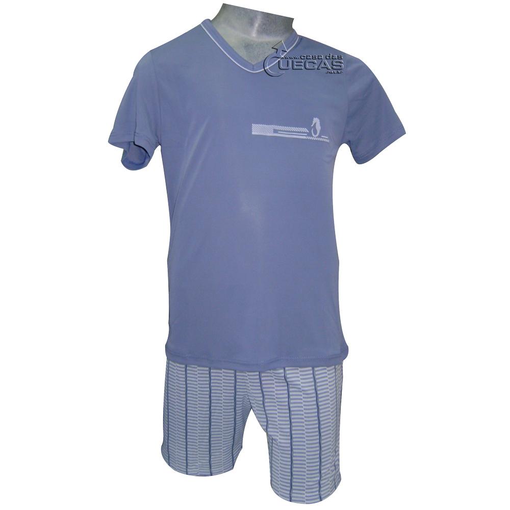 Pijama Íntimo Homem Curto Microfibra Infantil - 05223