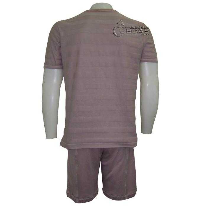 Pijama Just For Man Curto Malha Listrado  - 15.000186