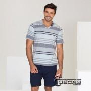 Pijama Fio Tinto 100% algodão Modo Avião - 07671