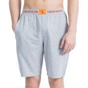 Bermuda Homewear Calvin Klein Monogram Cotton - SCH1555 Cinza Mescla