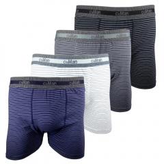 Cueca Boxer Cotton Plus Size CiaMan Risca de Giz BPS42