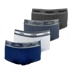 Cueca Slip Cotton Plus Size CiaMan Risca de Giz SPS42