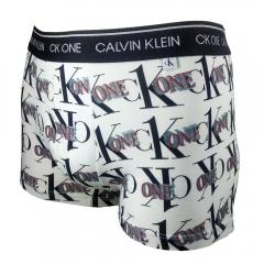 Cueca Trunk Calvin Klein One Cotton Print - MAS1896