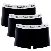 Kit C/ 3 Cuecas Calvin Klein Boxer Low Rise Trunk Preta - U2664