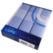Lenço Masculino Lupo Puro Algodão C/3 41x41 cm - Azul Jeans