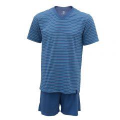Pijama Curto Masculino 100% Algodão JMan - 75502