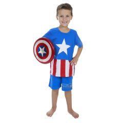 Pijama Infantil Capitão América Avengers 08 - Marvel 27.05.0012