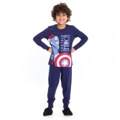 Pijama Infantil Longo Capitão América Avengers - Marvel 27.05.0100