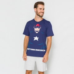 Pijama Masculino Adulto Capitão América - 54.05.0010