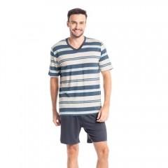 Pijama Masculino Curto em Viscolycra Tombini Homem - 5790B